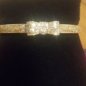"kate spade Jewelry - Kate Spade Gold Glitter Bow ""Moon River"" Bracelet"